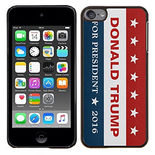 Price comparison product image iPod Touch 6 Case,  Donald Trump 32 Hard Protective Plastic PC Case