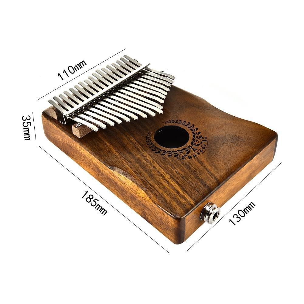 Samber Kalimba 17 Keys Thumb Piano Solid Finger Piano 17Key EQKalimbaSolidAcaciaThumbPianoLinkSpeakerElectricPickupwithBagCable with Tuning and Note Layout by Samber (Image #7)