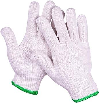 Guantes de trabajo Jobs Guantes Transpirable Resistente al desgaste Antideslizante Borde verde Protección de hilo de algodón 10 pares: Amazon.es: Bricolaje y herramientas