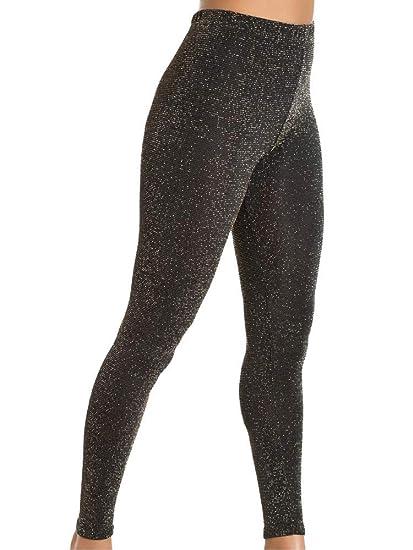 39a18193187 Fiore Wish Metallic Glitter Footless Tights at Amazon Women s ...