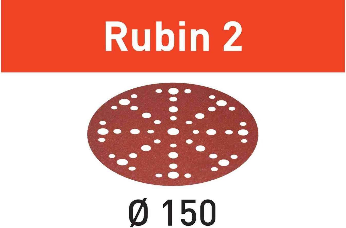 10X Festool 575182 120 Grit Rubin 2 For 6 Sander