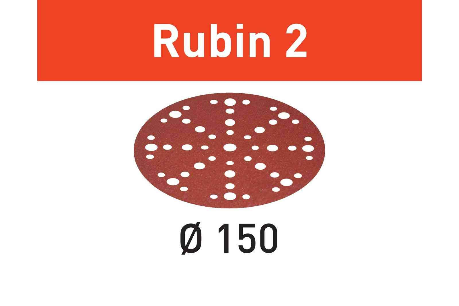 Festool 575188 80 Grit Rubin 2 For 6'' Sander, 50X
