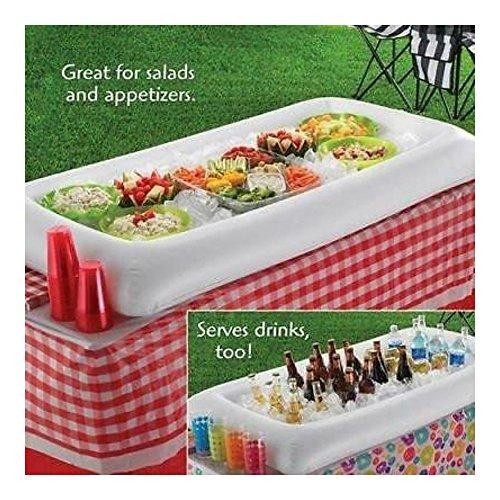 Inflatable Serving Bar Salad Buffet Ice Cooler Picnic Dri...
