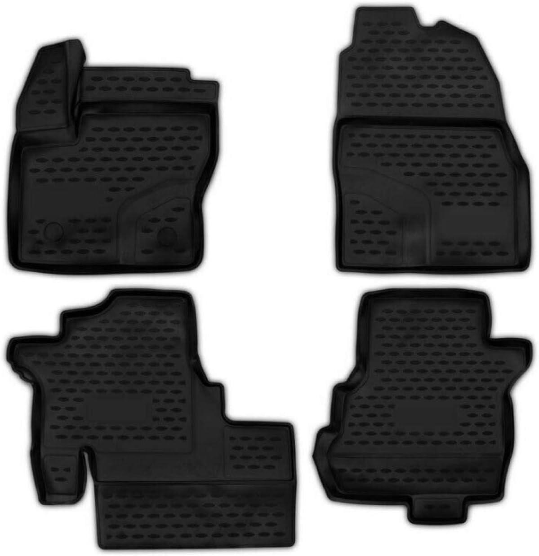 Omac Fußmatten Gummimatten Kompatibel Mit Ford Tourneo Courier 2014 2021 3d Hoher Rand 4 Tlg Auto