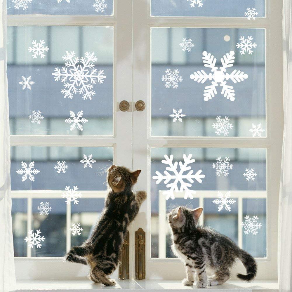 Schneeflocken Hängedekoration Weihnachten weißGirlande Eis Frozen Fensterdeko