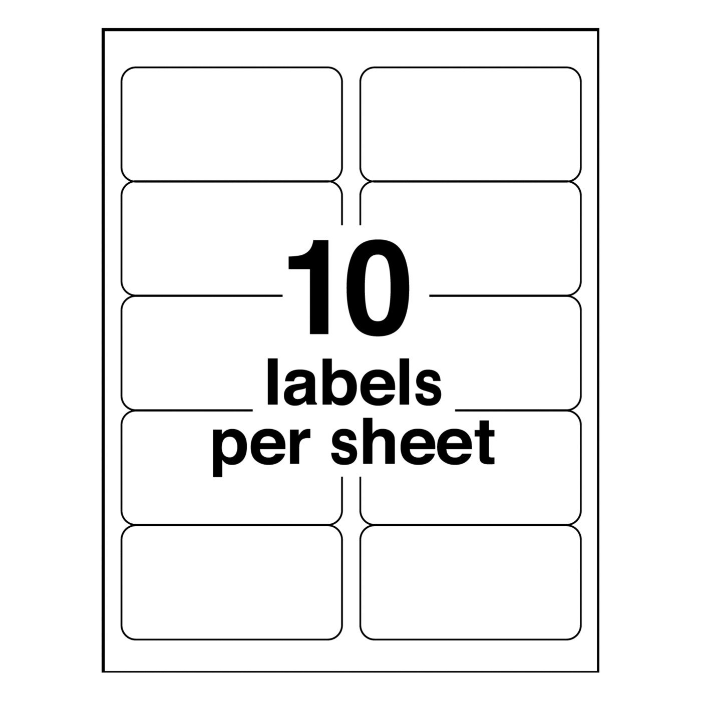 avery weatherproof laser shipping labels 2 x 4 500 pack 5523 2 x