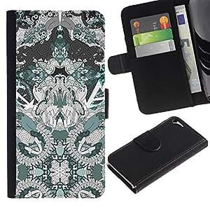 All Phone Most Case / Oferta Especial Cáscara Funda de cuero Monedero Cubierta de proteccion Caso / Wallet Case for Apple Iphone 5 / 5S // Spiritual Pattern Drawing Art