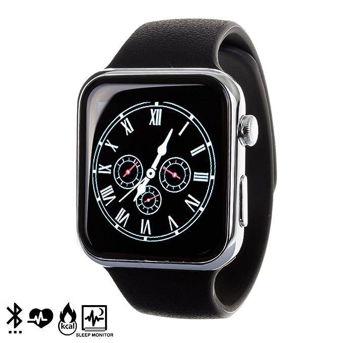 DAM - Smartwatch A9 Grey. Sincronización de notificaciones (solo para Android), llamadas, historial de llamadas, sms y agenda, reproducción y control ...