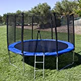 Best Choice Products 12' Round Trampoline Set With Safety Enclosure, Padding & Ladder