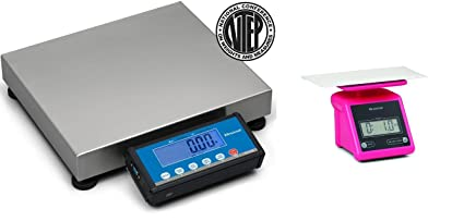 d75e78a7d3a5 Brecknell PS-USB Portable Shipping Scale NTEP Legal For Trade 30 kg/ 70 lb,  Free PS7 Pink included
