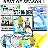 Senior Exercise DVDs: 6 Total Body Workouts + 10 Quick Balance Workouts for Seniors + Resistance Band Included. All Exercises are demonstrated as Standing & Chair Exercises Giving You The Option.