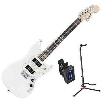 Guitarra eléctrica Fender Mustang 90 RW Olw W/Stand y sintonizador: Amazon.es: Instrumentos musicales