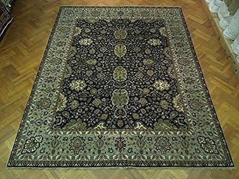 Amazon Com 12x15 Wool Area Rug Black Sage Traditional Jaipur Rug