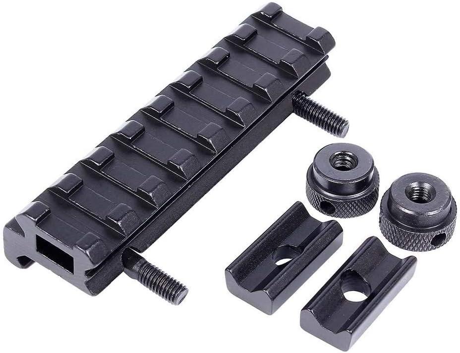 AJDGL Base de Montaje de Alcance de 20 mm Aluminio de bajo Perfil Picatinny Rail para Caza /Óptica Alcance Adaptador de Vista