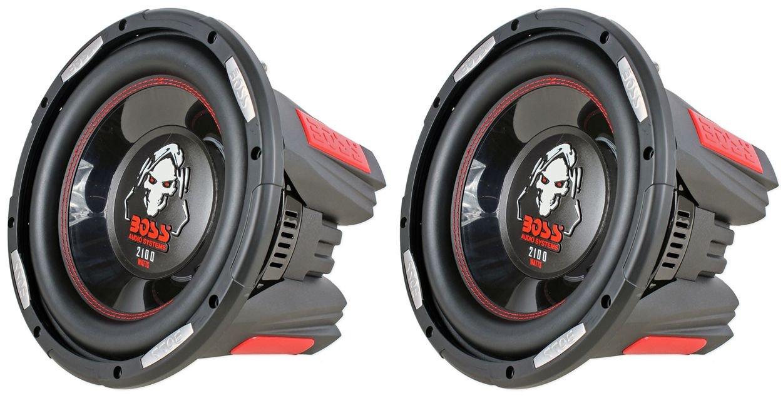 2) New BOSS AUDIO Phantom P106DVC 10'' 4200W DVC Car Subwoofers Power Subs PAIR