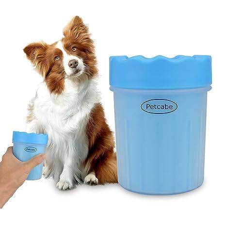 Petcabe Taza limpiadora de pezuñas con cepillo, portátil, para perros