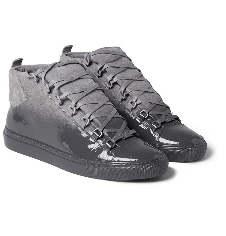20e2c4a109ca Balenciaga Arena Glossed-Suede High Top Sneakers  Amazon.co.uk  Shoes   Bags