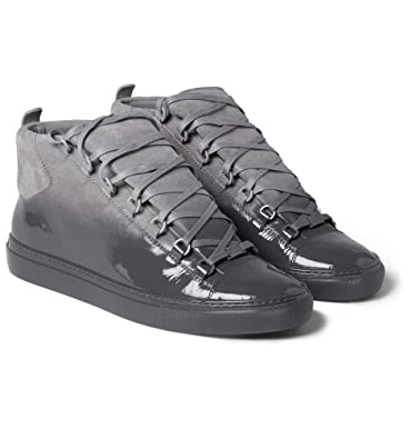 c35c839119007 Balenciaga Arena Glossed-Suede High Top Sneakers  Amazon.co.uk  Shoes   Bags