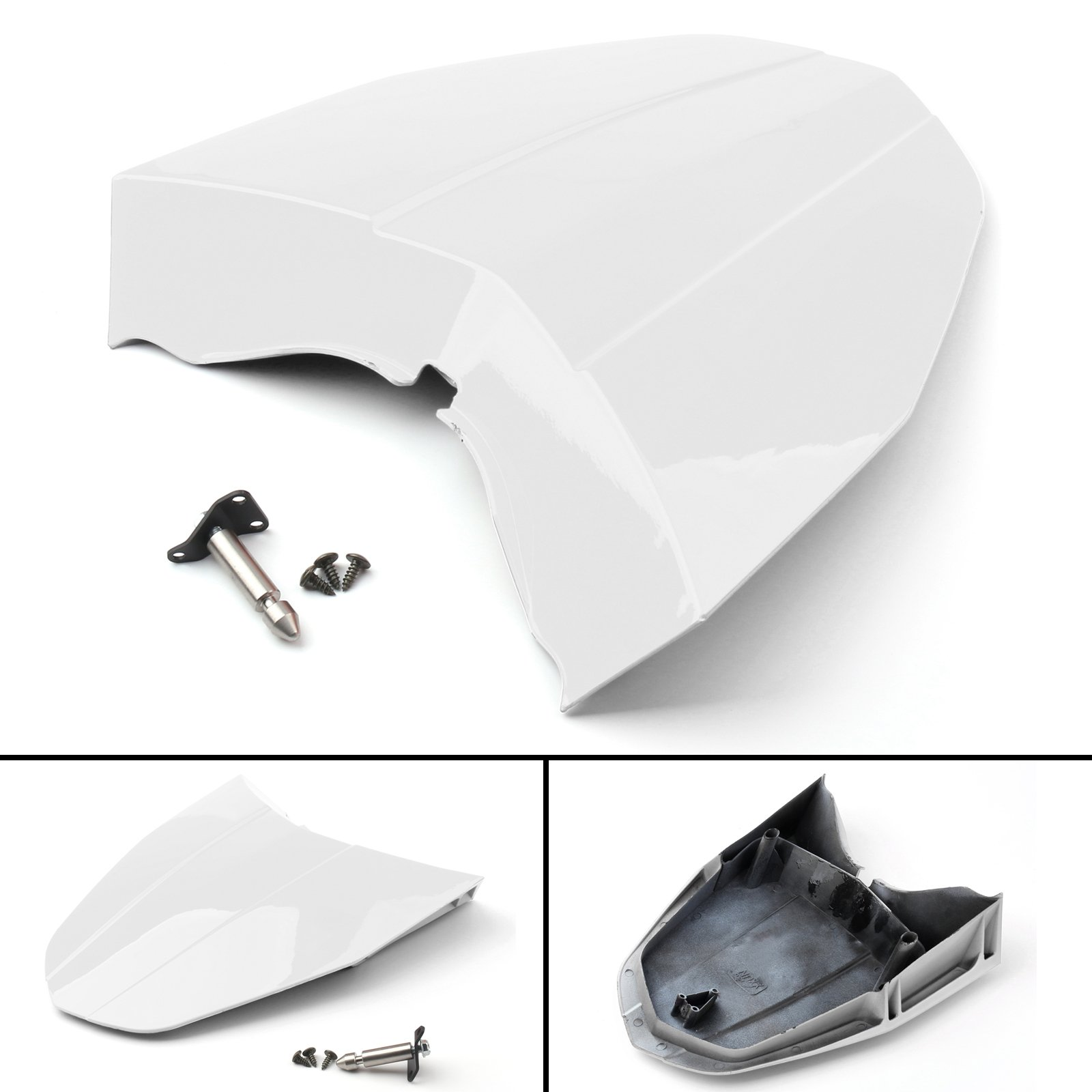 Areyourshop White ABS Rear Tail Solo Seat Cover Cowl Fairing For 2013-2015 KTM 690 DUKE