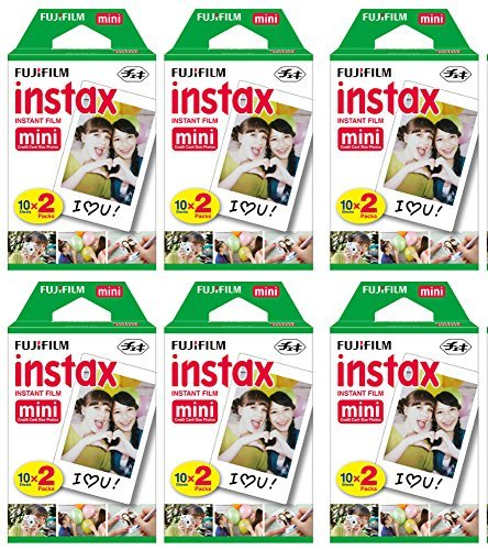 Fujifilm Instax Mini Instant Film (6 Twin packs, 120 Total pictures) for Instax Cameras by Fujifilm