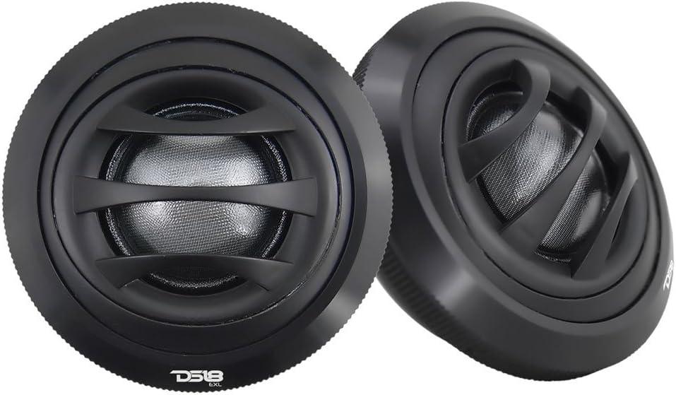 DS18 EXL-TW2.5 Tweeter 2.5-inch Diameter 1-inch Voice Coil Extremely Loud Series 100 Watts Max Silk Dome Ferrite Tweeter Ferro Fluid Sound Quality - Set of 2 (Black)