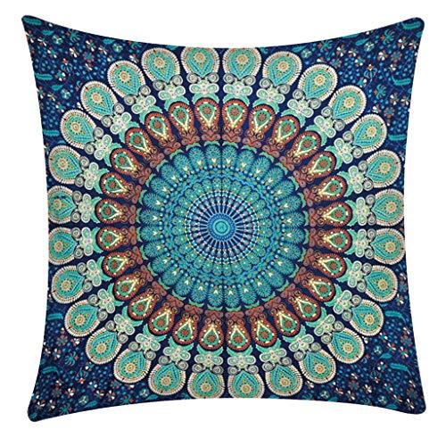 QBQCBB Pillow Case Polyester Fiber Cushion Sofa Car Cushion Cover Home Decoration 45x48cm(C)