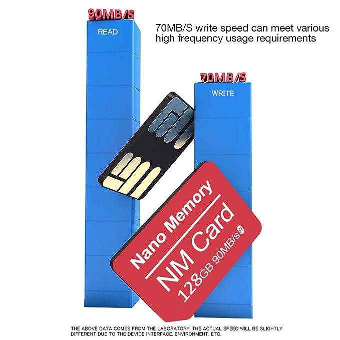 Amazon.com: Tarjeta de memoria nano de 128 GB, 90 MB/s ...