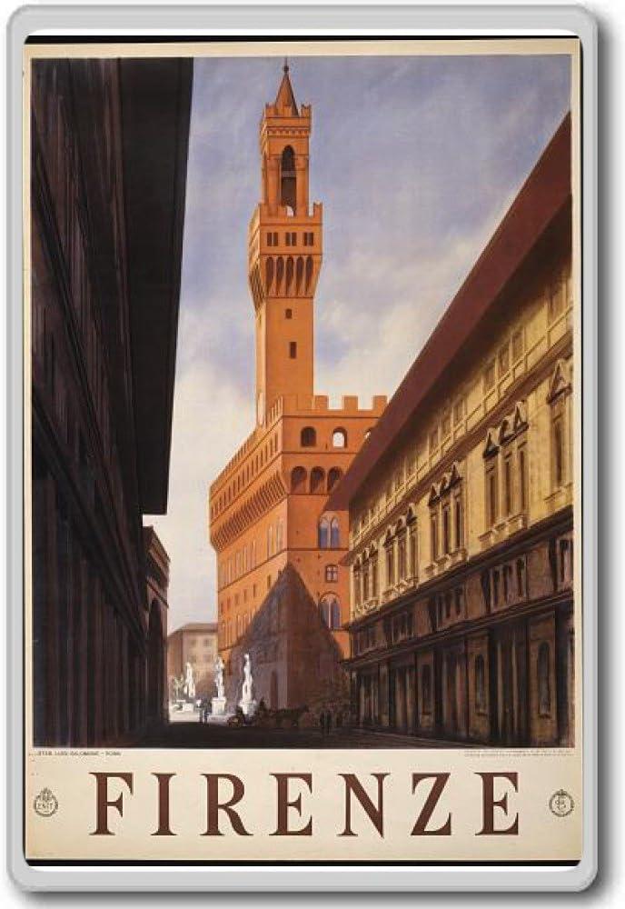 Firenze, Florence, Italy, Europe - Vintage Travel Fridge Magnet