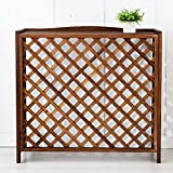 wood air conditioner cover - WSSF- Free Standing Wooden Flower Rack Anti-corrosion Carbonized Gardening Workstation Plant Flower Pot Shelf Outside Air Conditioner Cover Radiator Cover Display Stand,853575cm