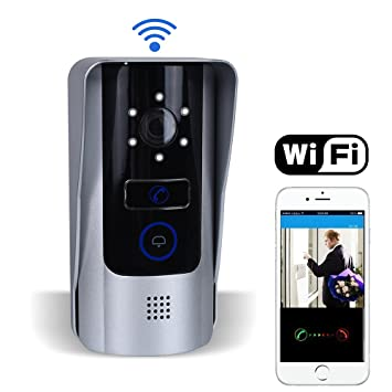 Wifi Doorbell Video Doorbell Camera Video Door Phone with Remote Unlock Function  sc 1 st  Amazon.com & Wifi Doorbell Video Doorbell Camera Video Door Phone with Remote ...