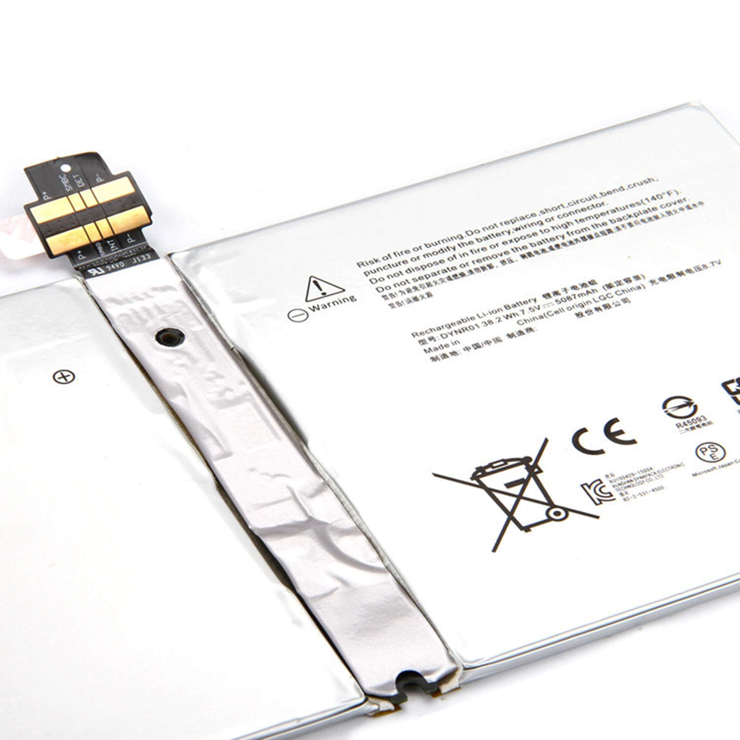 JIAZIJIA G3HTA027H Replacement Tablet Laptop Battery for Microsoft Surface Pro 4 1724 12.3 inch Series Notebook Tablet DYNR01 Tools White 7.5V 38.2Wh 5087mAh