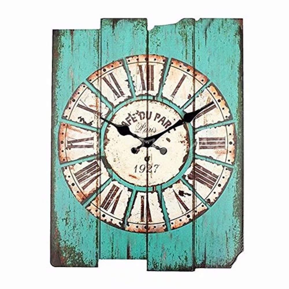 SMC H15 Country Style Home Decor Wood Wall Clock (MDF)