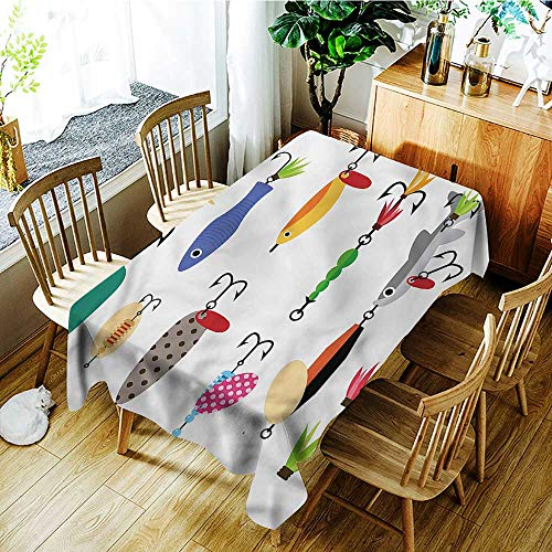 familytaste Fishing,Waterproof tablecloths Stinger Net and Worms 60