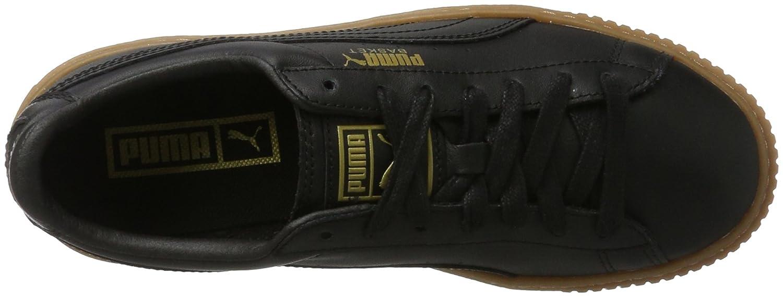 Puma Women's Basket Platform Core Black Leather Sneakers 4.5 UKIndia (37.5 EU) (36404002)