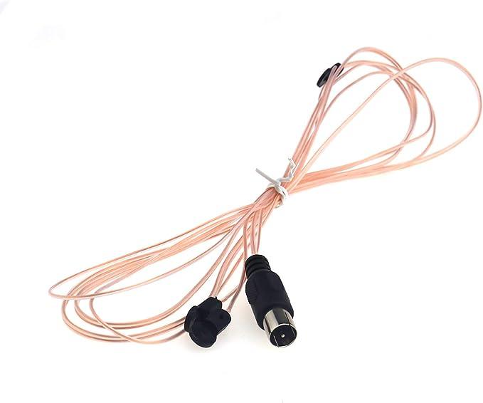 Create idea Antena FM de repuesto 300 hm F adaptador de antena de señal interior sintonizador Y