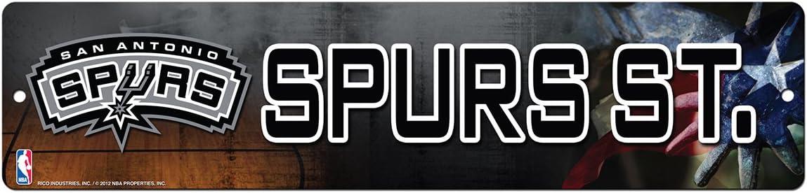 NBA San Antonio Spurs 16-Inch Plastic Street Sign D/écor