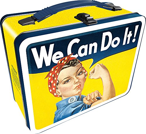 Aquarius Smithsonian Rosie The Riveter Gen 2 Tin Storage Fun Box (Lunch Box Tin Metal)