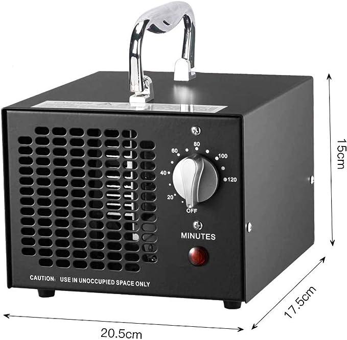 Cutygo Generador de Ozono Comercial - 3500 MG/h | Esterilizador Desodorante Purificador de Aire Profesional O3 para Hogar, Oficina, Humo, Automóviles y Mascotas: Amazon.es: Hogar