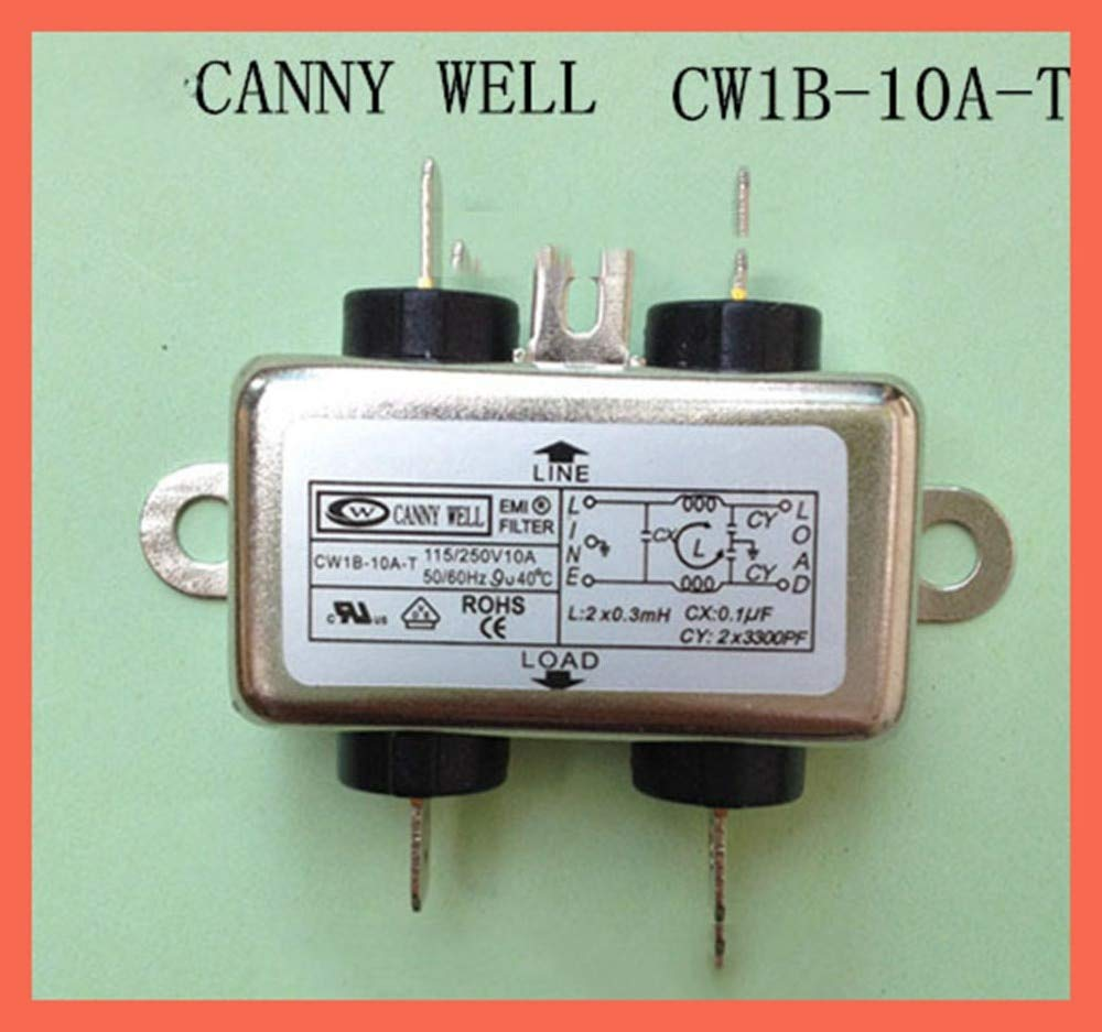 Fincos EMI Filter Electronic Components Power Supply Filter Canny Well EMI Power Filter Single Phase 110-250v 10A cw1b-10a-t