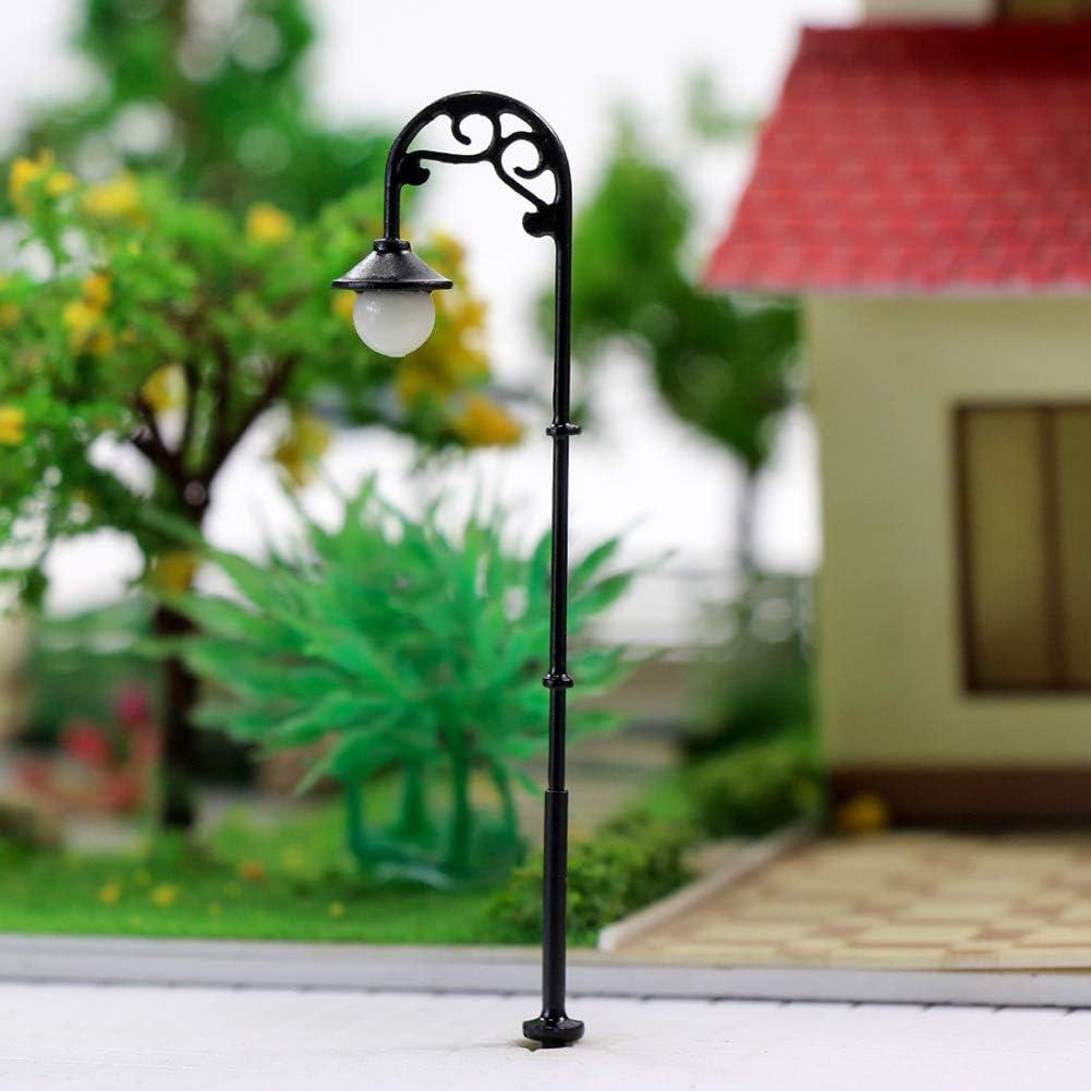Evemodel 10 STK 00 Leuchte Stra/ßenlampen NEU LYM56-10N-EU LED Lampen 63mm Spur H0