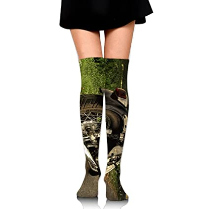 82728f4b3f Silver Cruiser Motorcycle Cotton Compression Socks For Women. Graduated  Stockings For Nurses, Maternity,