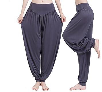 Hippolo - Cómodo pantalón bombacho tipo yoga para mujer ...