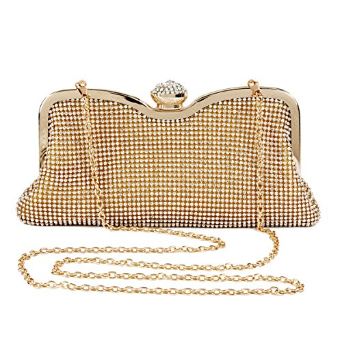 Handbag Damara Evening Black Damara Rhinestones Women Crown Women Jewelled Lock P4wfTnq