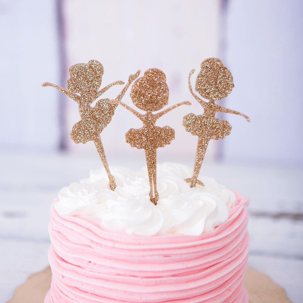 Amazon Ballerina Cake Topper For Birthday Party Decor Glitter