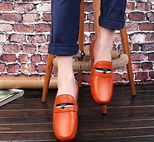 Zapatos Pedal Perezosos Zapatos Perezosos de otoño Zapatos conducción de Hombre Hombre Salvajes Slip y Primavera Casuales de Zapatos Zapatos Un Guisantes Ons Naranja Mocasines Zapatos Cuero SpqRqZ