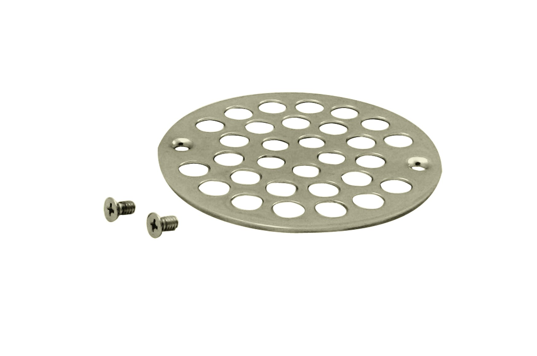 Westbrass 4'' O.D. Sold Brass Shower Strainer Cover, Polished Nickel, D3192-05