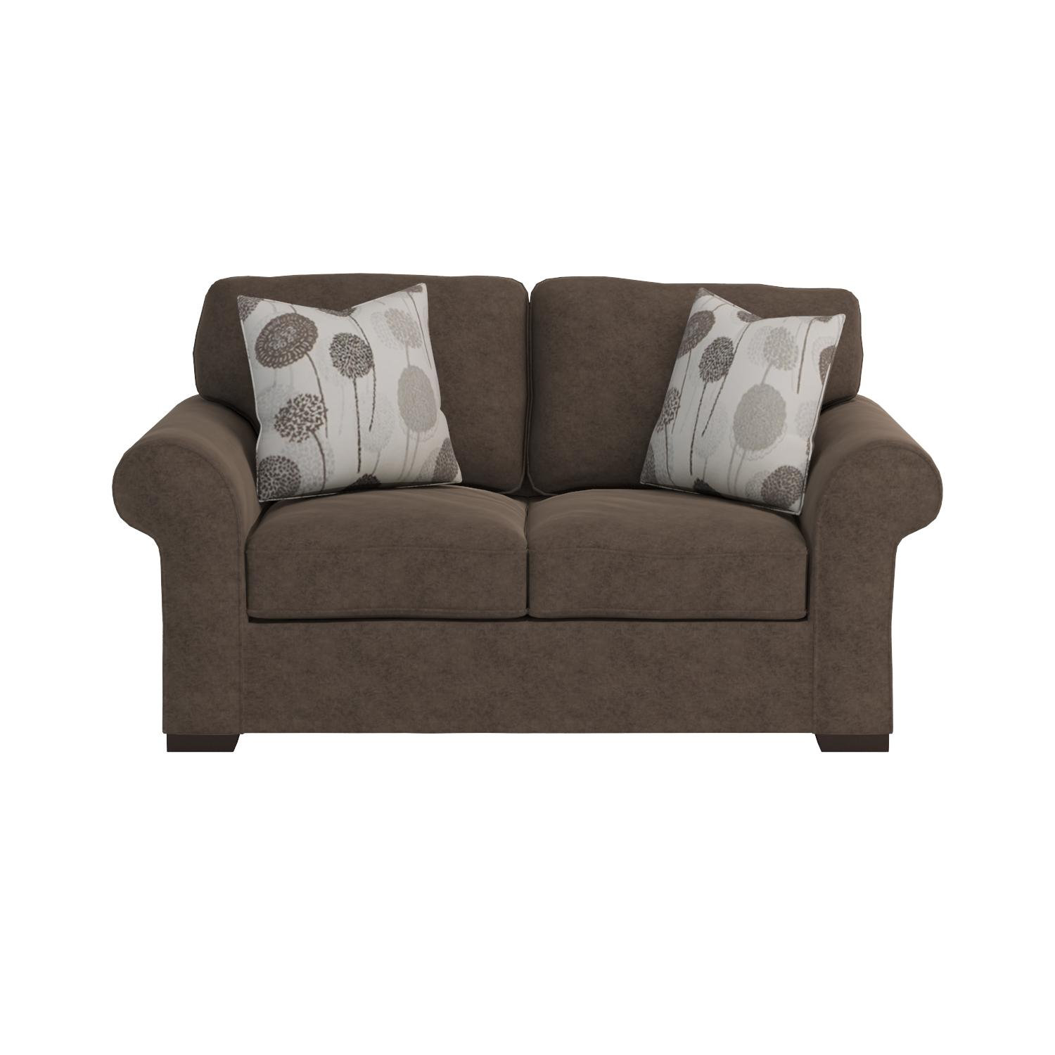 Amazon Roundhill Furniture Fabric Loveseat with 2 Pillows