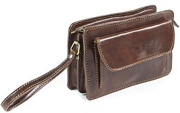 Genuine Italian leather Mens Travel Organizer Wrist Bag Clutch Man ...