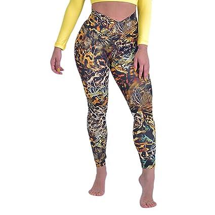 Pantalones Yoga Mujeres Mallas Deportivas Mujer Punto de ola ...