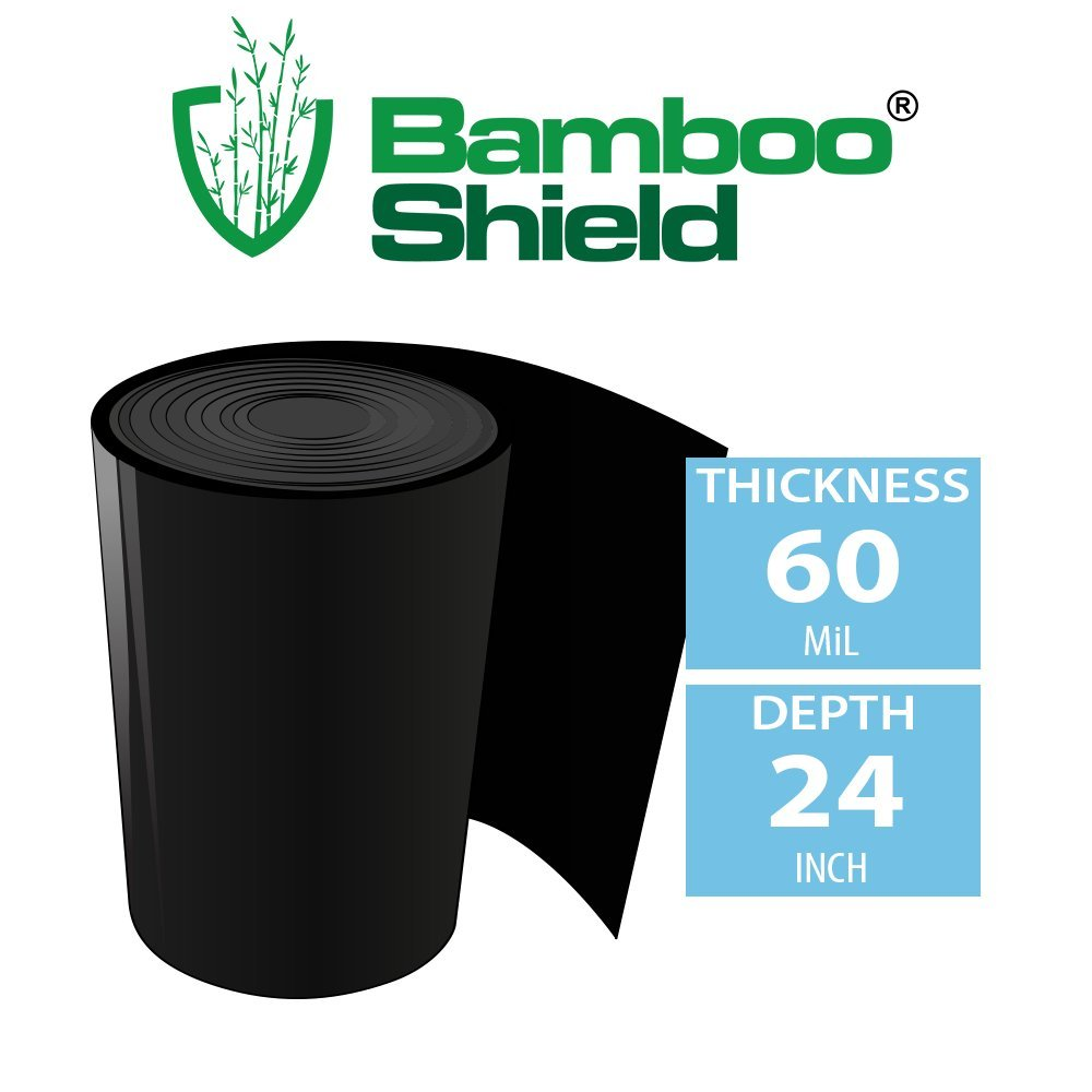 Bamboo Shield – 100 foot long x 24 inch wide 60mil bamboo root barrier / water barrier by Bamboo Shield